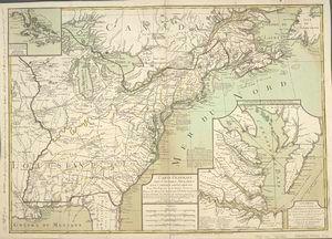 Carte generale des colonies angloises dans l'Amerique Septentrionale pour l'intelligence de la guerre presente / d'apres... ([1783])