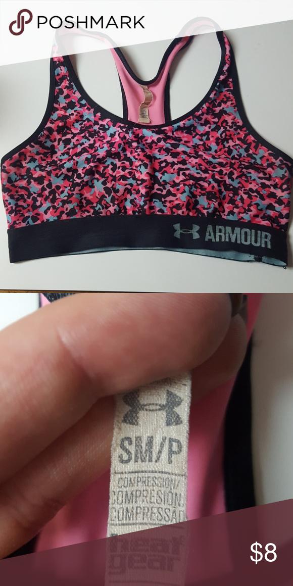under armour camo sports bra