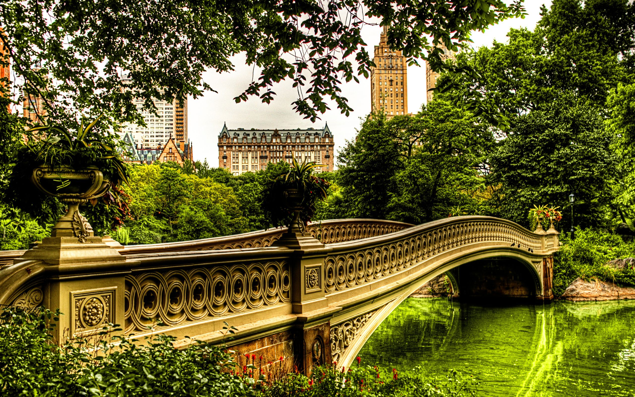 Обои Nyc, центральный парк, bow bridge. Города foto 11
