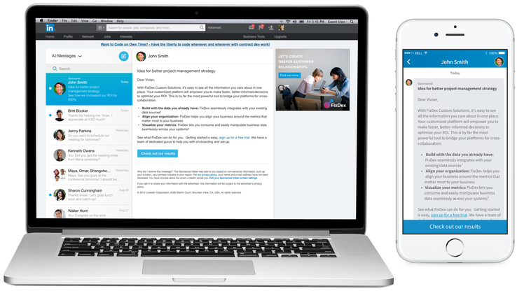 Linkedin Opens Sponsored Inmail To All As Yet More Ad Products
