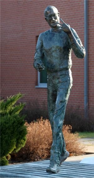 Statue dedicated to Steve Jobs at Graphisoft Headquarters Budepst, Hungary.