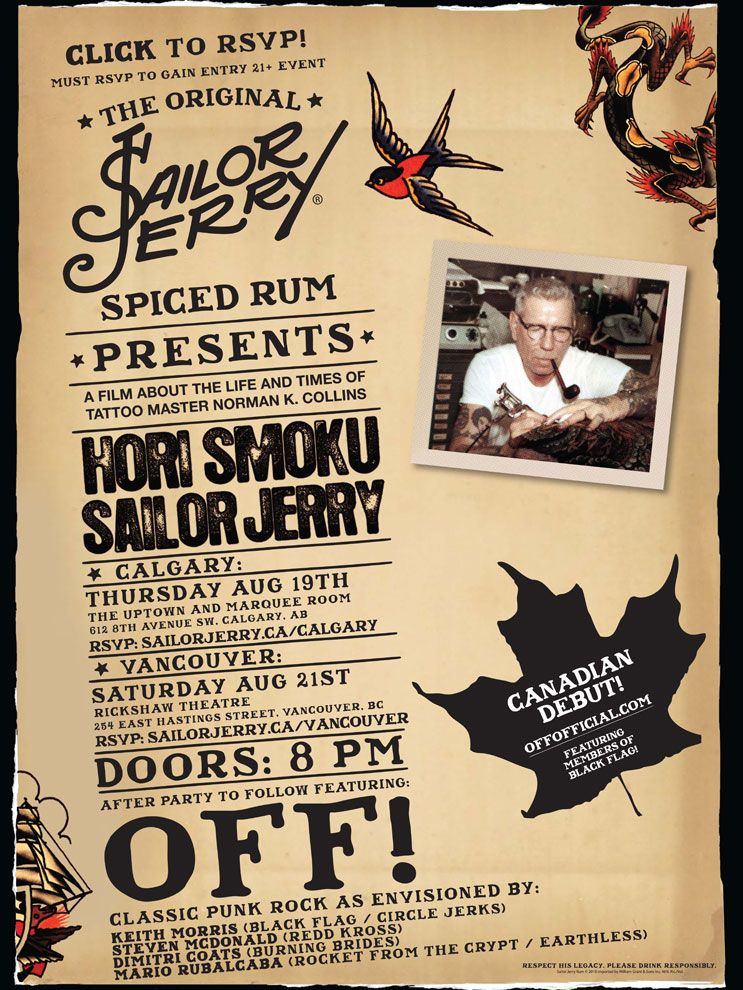 Sailor Jerry Event Poster.