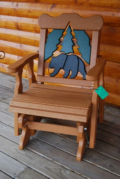 Bear Poly Lumber Recycled Plastic Gliding Chair From Cabin Creations In Phillips Wi Also