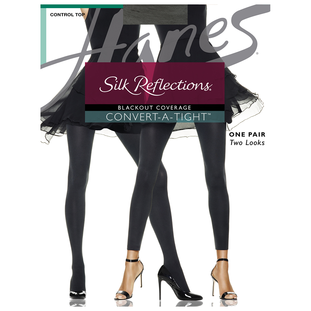 23ae5159382 Silk Reflections® Blackout Opaque Convert-A-Tight® CT w  Comfort Stretch®  Panty