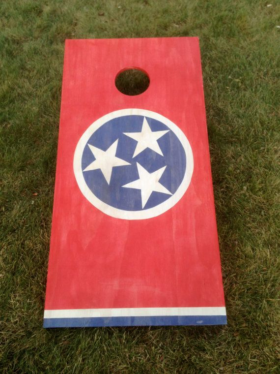 Cornhole Game By Coloradojoes Tennessee Flag And American