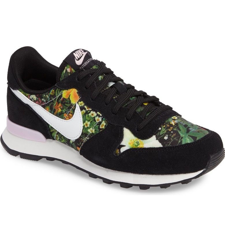 Nike in full bloom. These retro-inspired sneakers showcase a bright floral  print.