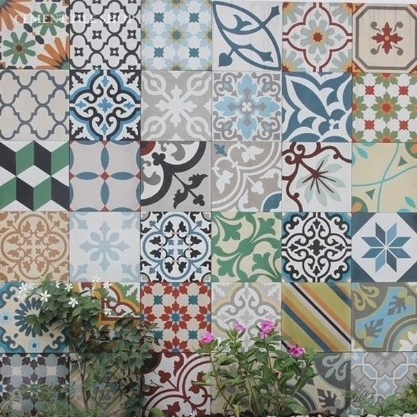cement tile shop encaustic cement tile patchwork random tiles pinterest fliesen bad. Black Bedroom Furniture Sets. Home Design Ideas