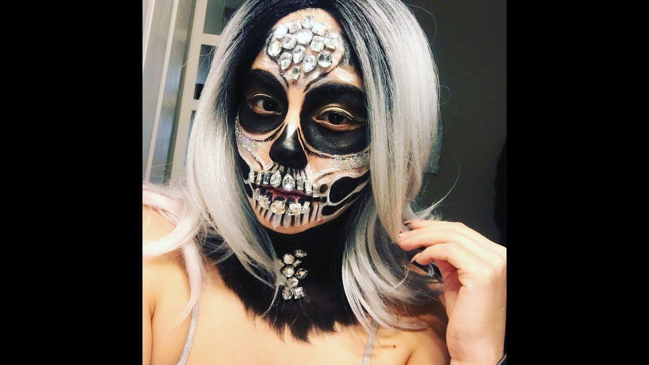 Jeweled halloween skull YouTube Halloween skull