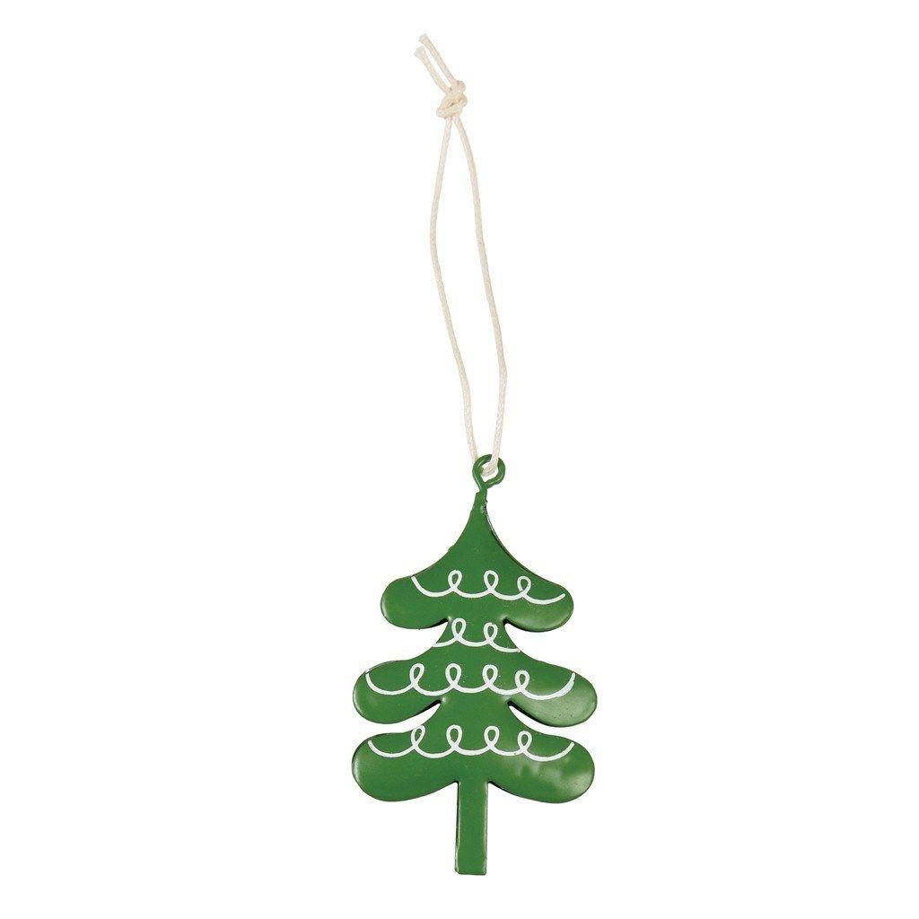 Christmas Tree Metal Decoration