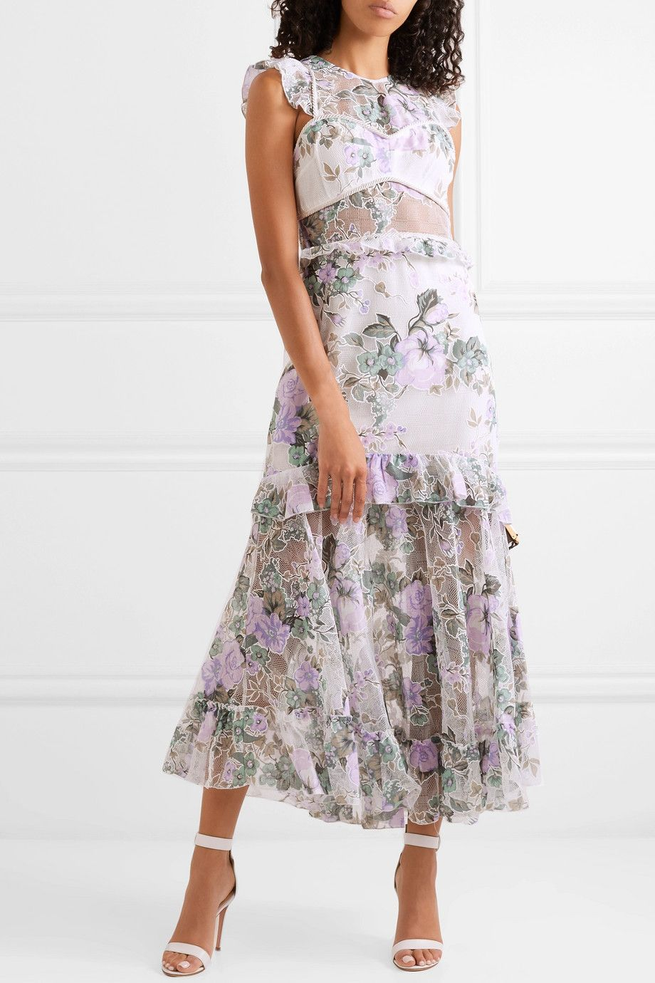 6e2982f36930 alice McCALL - Oh So Lovely printed mesh maxi dress in 2019 | I Love ...