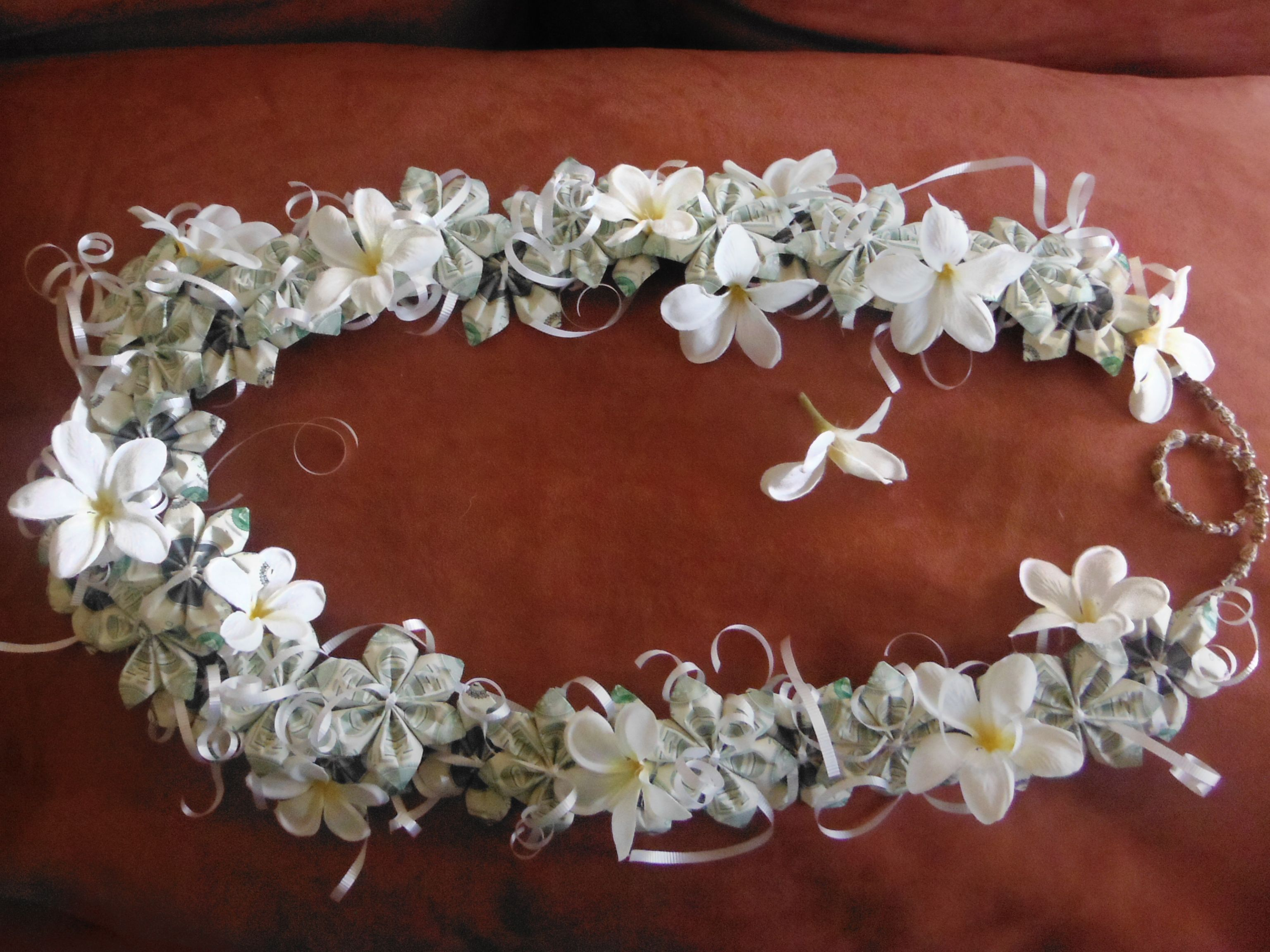 This is an ula (lei, or necklace) I made for my daughter's high ...