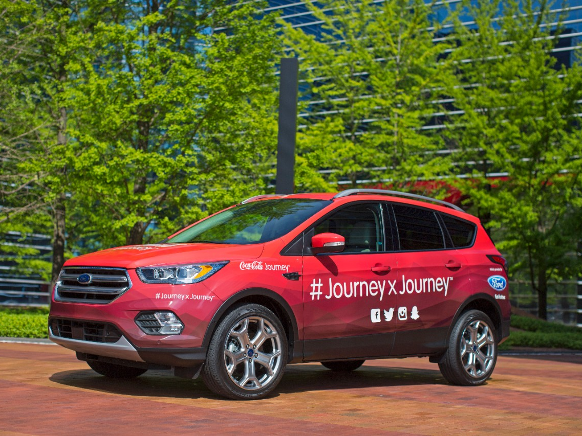 Coca cola begins epic cross country road trip in customized 2017 ford escape