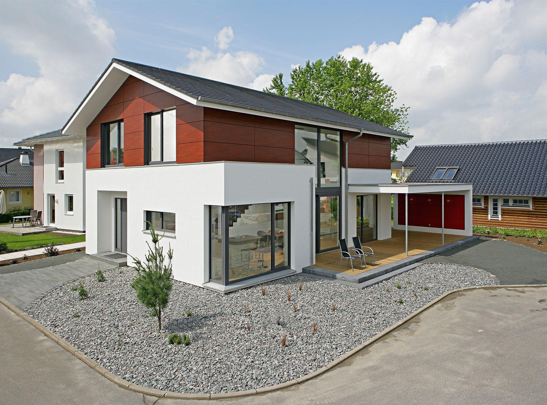 Einfamilienhaus Neubau Modern Satteldach