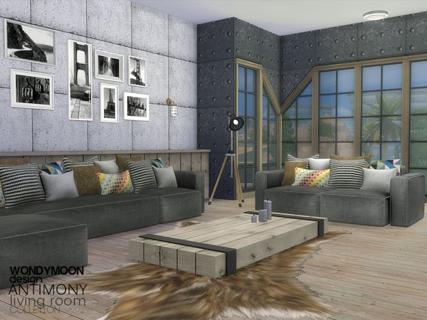 Antimony Living Found In TSR Category U0027Sims 4 Living Room Setsu0027