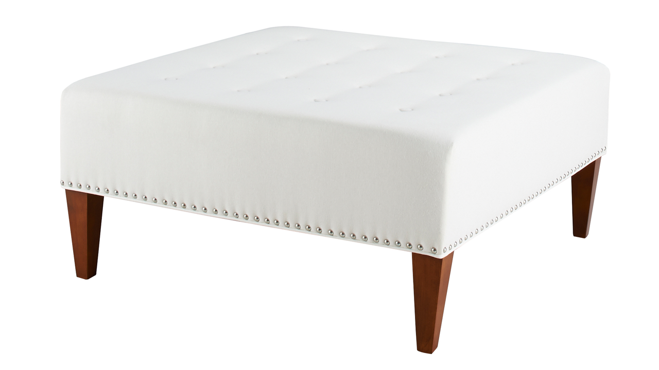 Magnificent Michelle Tufted Square Cocktail Ottoman Woven Off White Evergreenethics Interior Chair Design Evergreenethicsorg