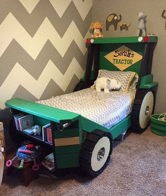 Tractor Bed PLANS In Digital Format For A DIY Farm Themed Inspiration Tractor Themed Bedroom