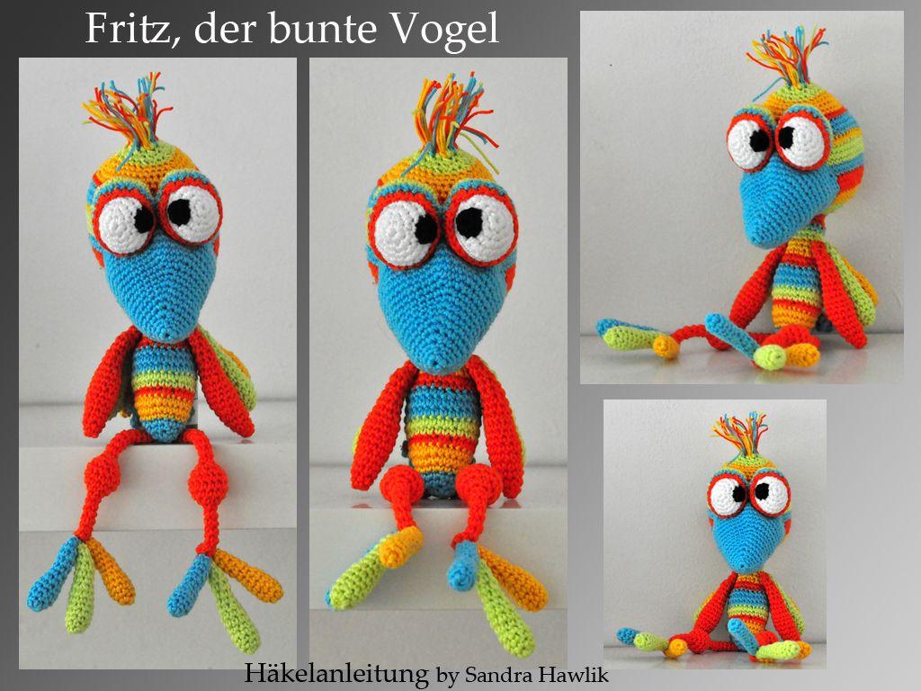 Häkelanleitung Diy Fritz Der Bunte Vogel Ebook Pdf Deutsch