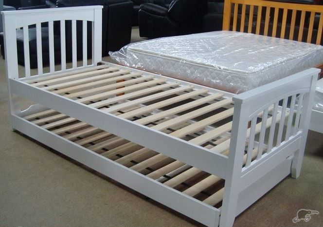 Mocha King Single Bed Pop Up Trundle Bed White Trade Me