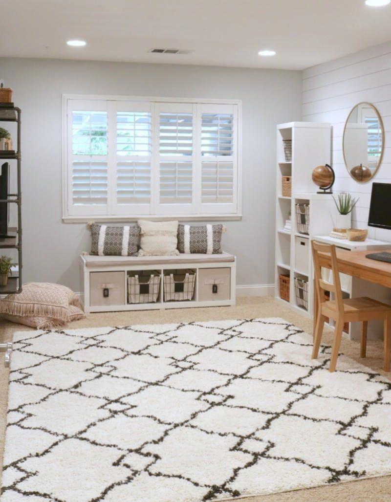 Basement Study Room: Affordable Basement Design #AffordableBasementDesign