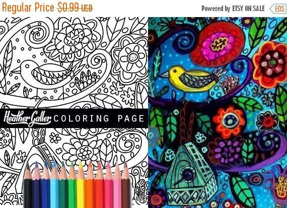 65 Off Tree Birds Coloring Birdhouse Book Adult