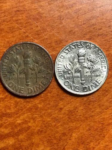 error #errorcoins 1995 P Roosevelt Dime Unplated Mint Error Penny