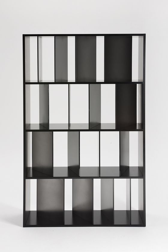 Japanese Studio Nendo S New Sundial Bookcase For Kartell Whose Variously Angled Vertical Dividers Play With Light And Shadow đồ đạc Kệ Sach Thiết Kế