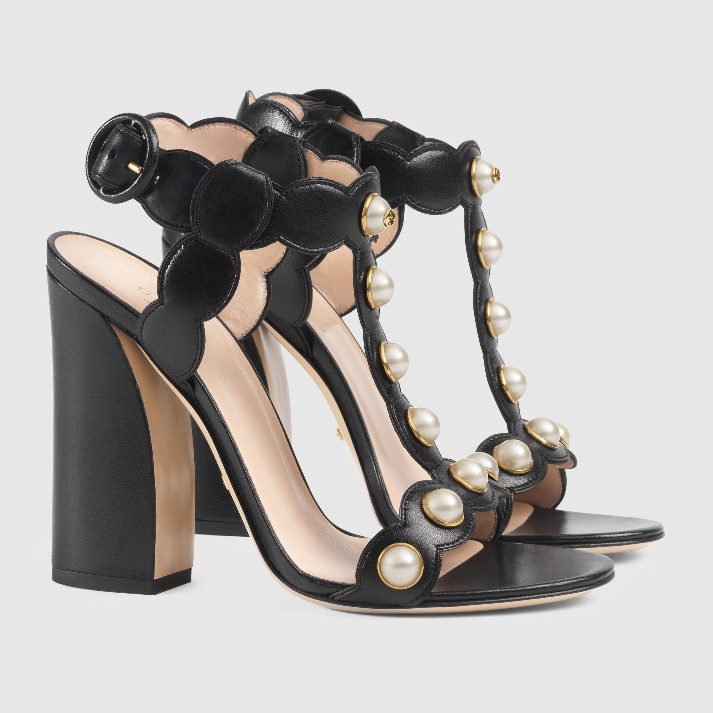 f0045f98f Gucci Willow leather t-strap sandal | Hello Lover | Gucci shoes ...