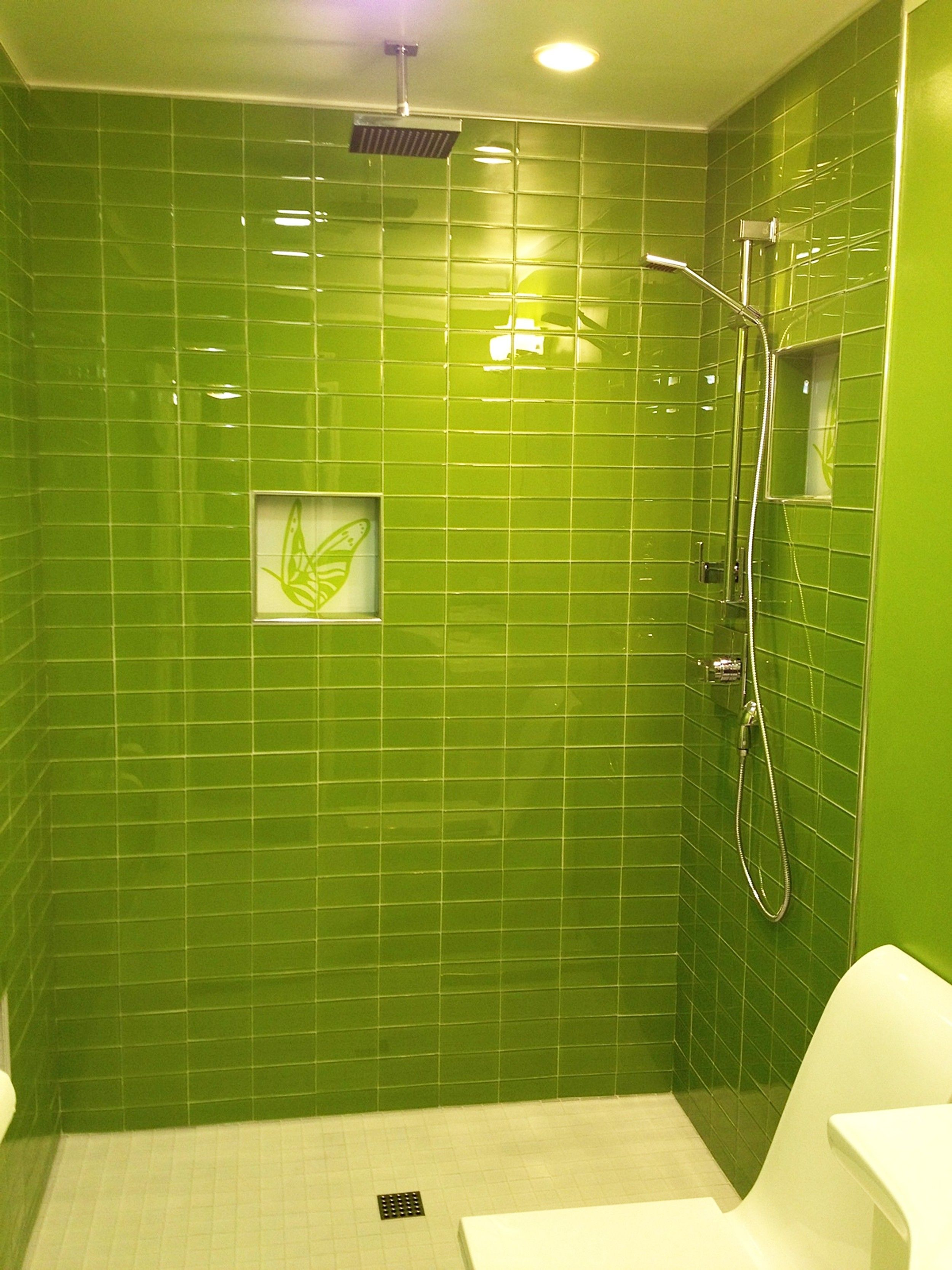 Lush Glass Subway Tile Lemongrass 3x6 Home Spacethrooms