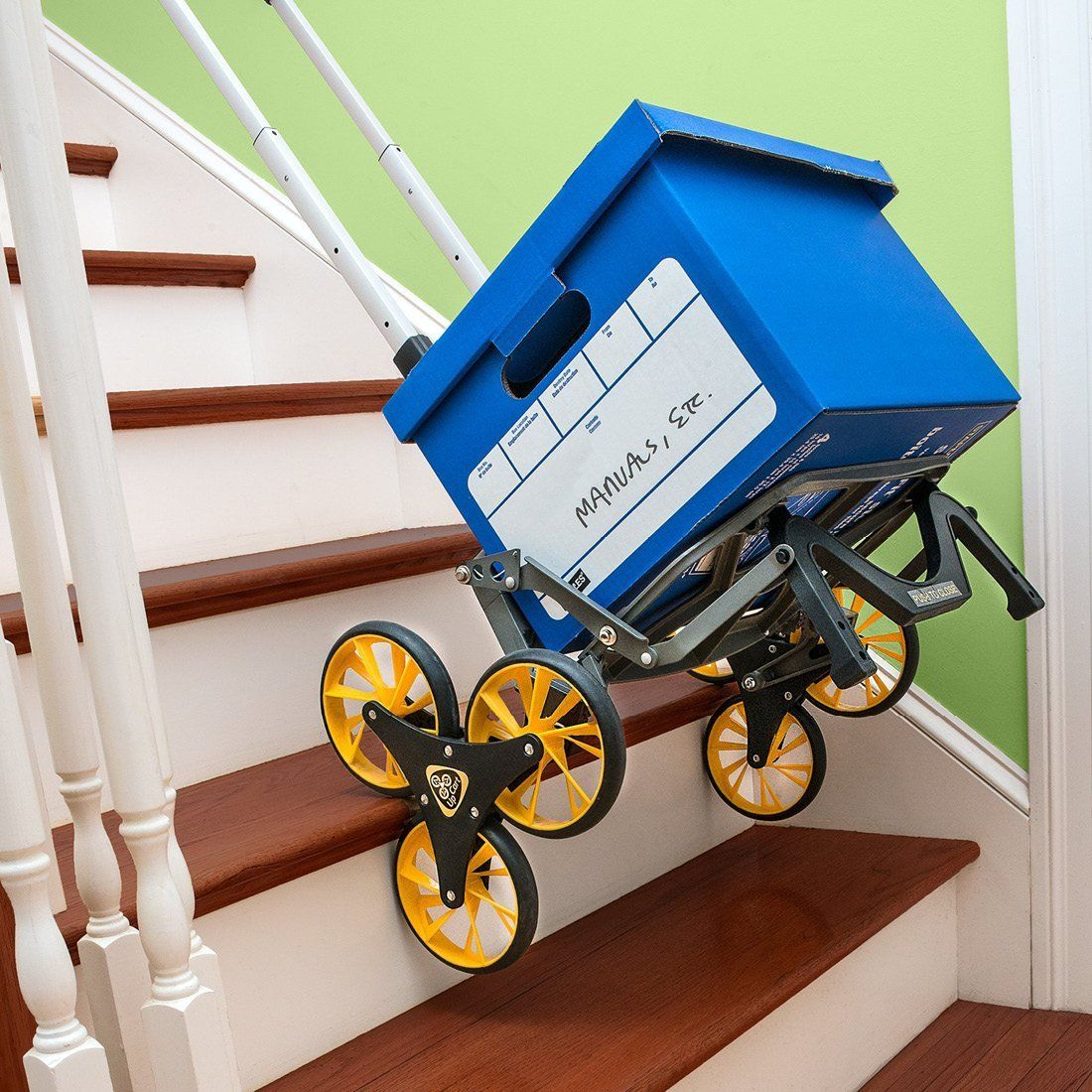 UpCart is a easy to use stair climbing trolley that is