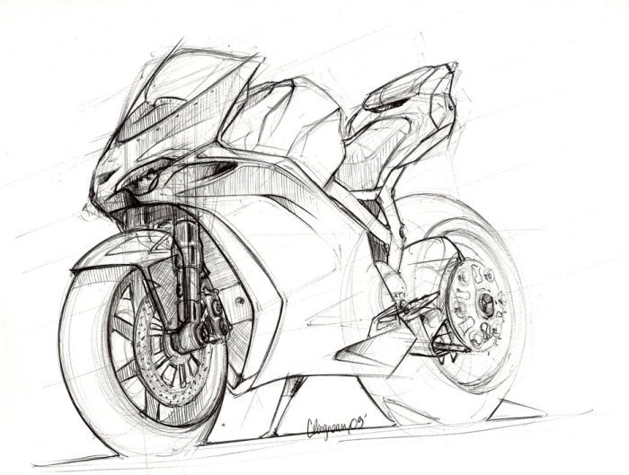 Motorcycles Sketches By Clment Lagneau At Coroflot Com