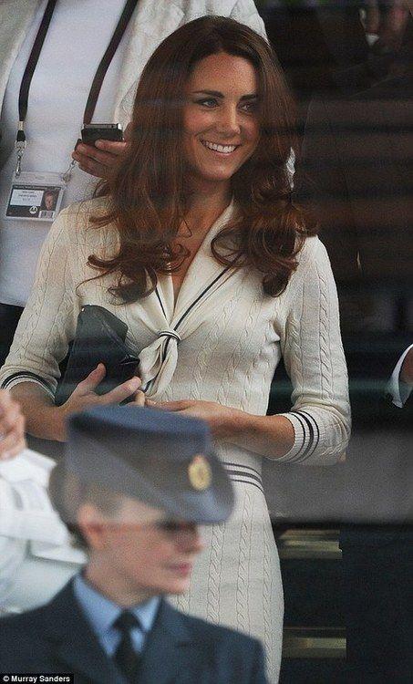 Kate at Wimbledon...perfect dress!