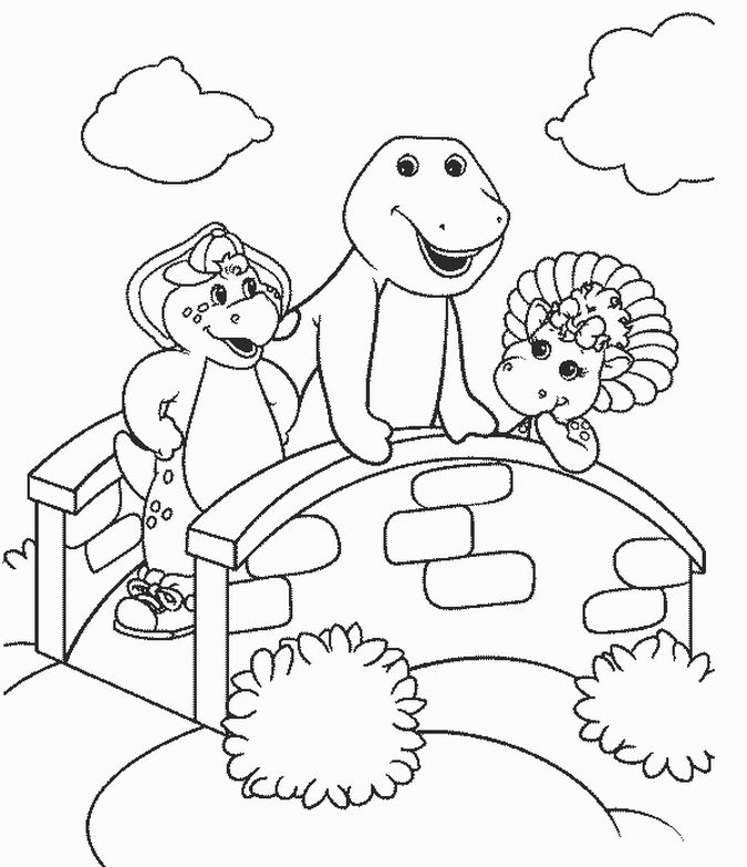 Barney coloring pages for kids ~ Free Printable Barney Coloring Pages For Kids | Dinosaur ...