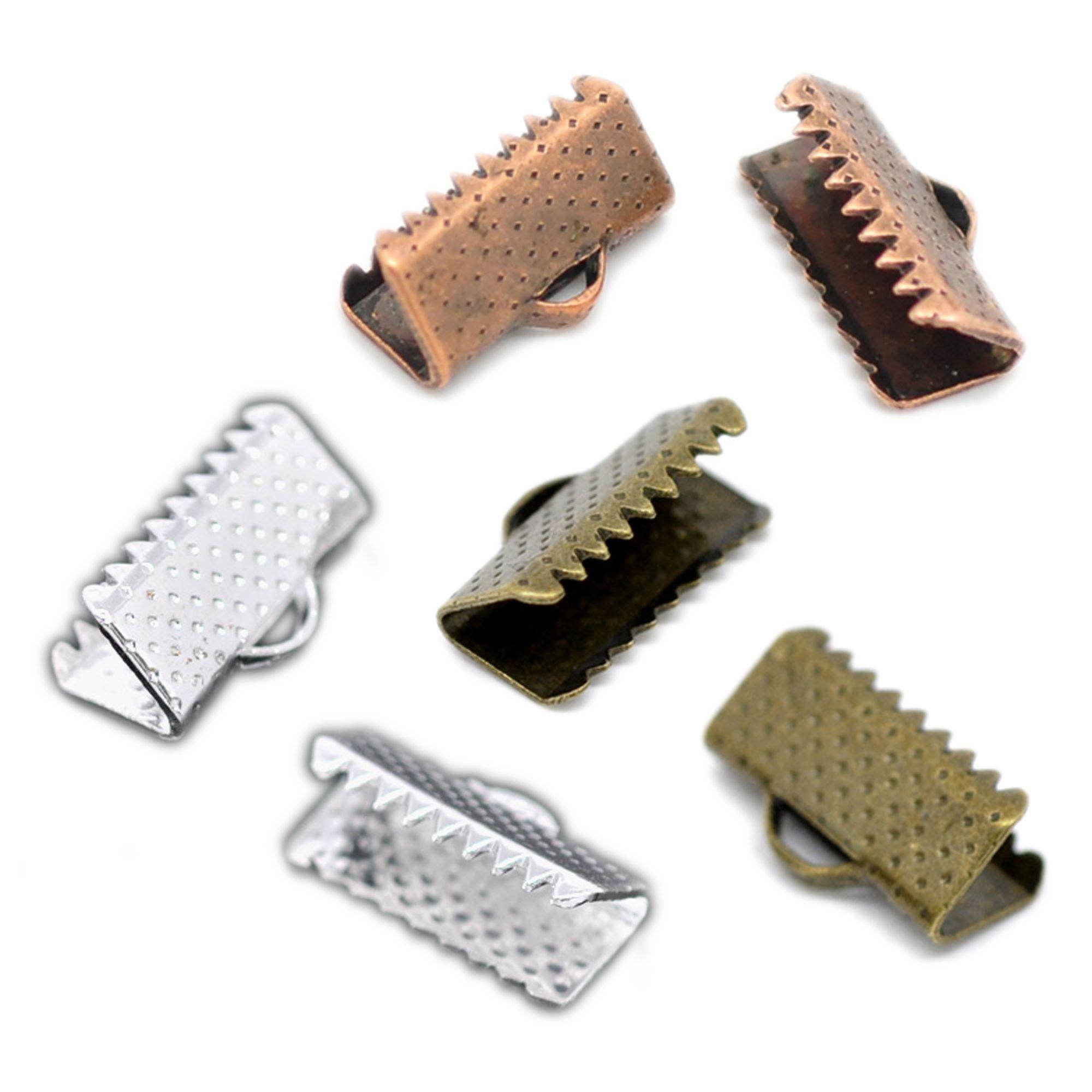 500 Quetschröhrchen 1,1 x 1,5mm silber Quetschperlen Crimps Quetschies Spacer