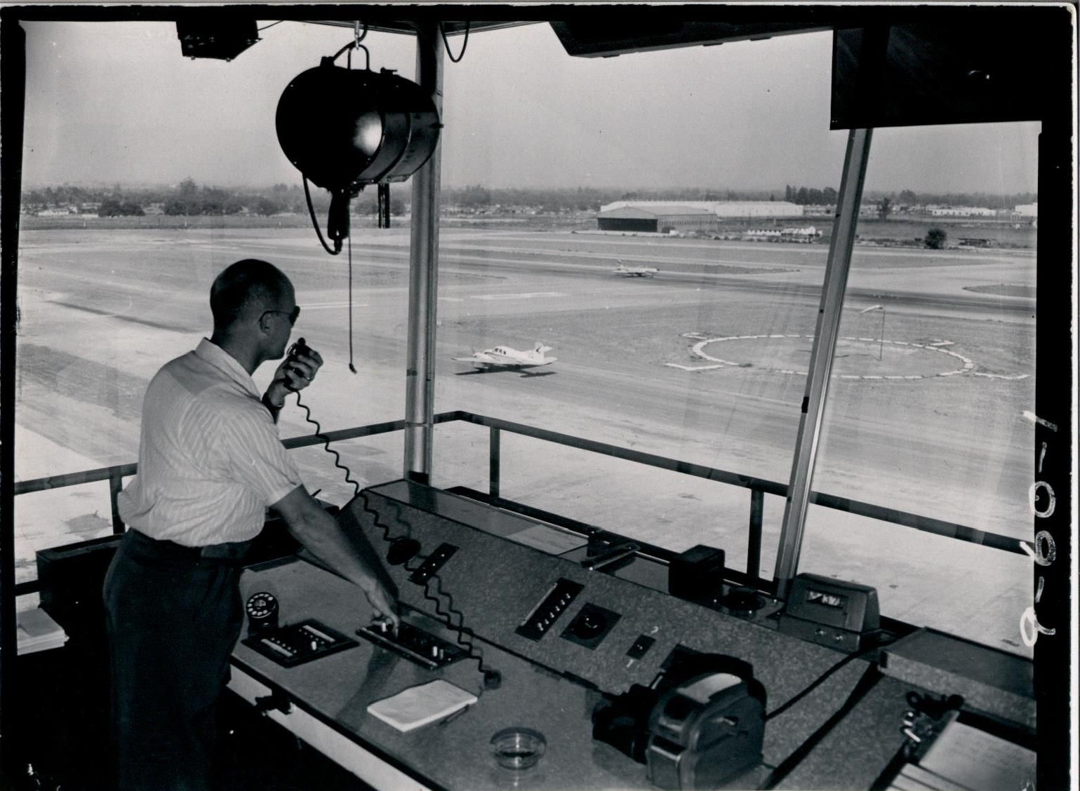Go back in time to 1955 for a peek at the air traffic
