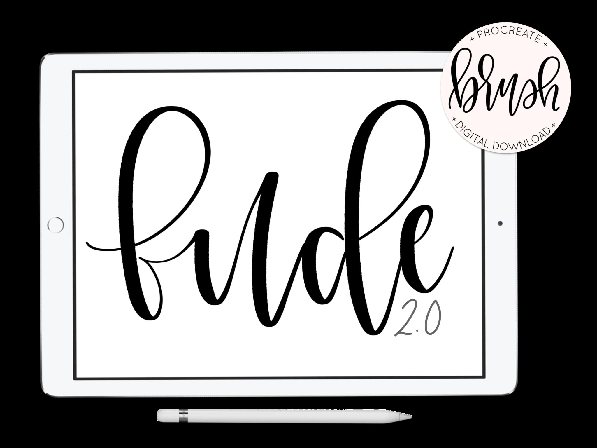 Fude 2.0 lefty.script Procreate, Procreate apple