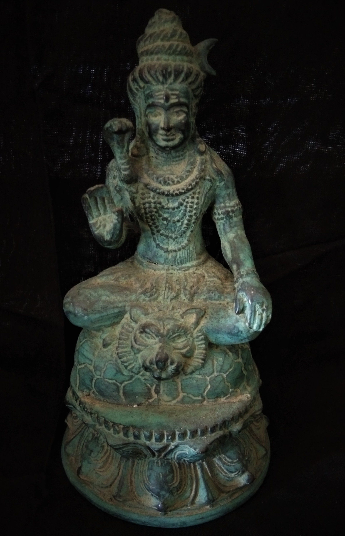 Lord Shiva Hindu God Mahadeva 7 Bronze Brass Statue Meditation Blessing Hand Spiritual Collectable Art God Sculpture