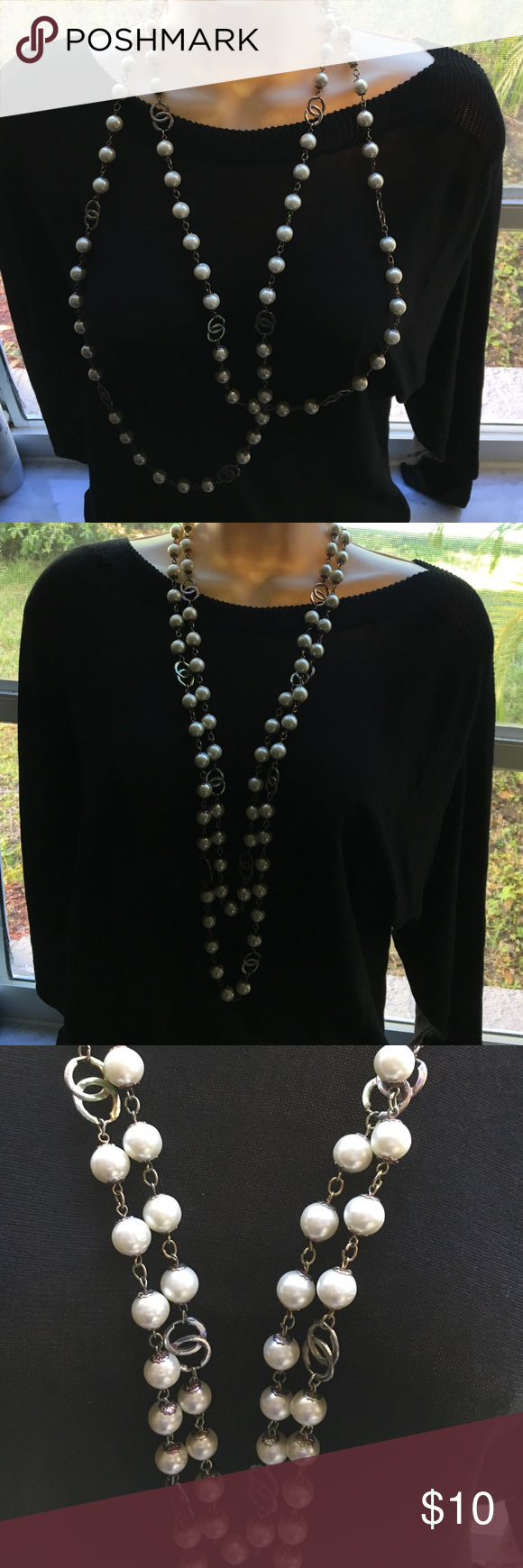 Vintage faux pearls extra long necklace Vintage amazing faux pearl necklace Jewelry Necklaces