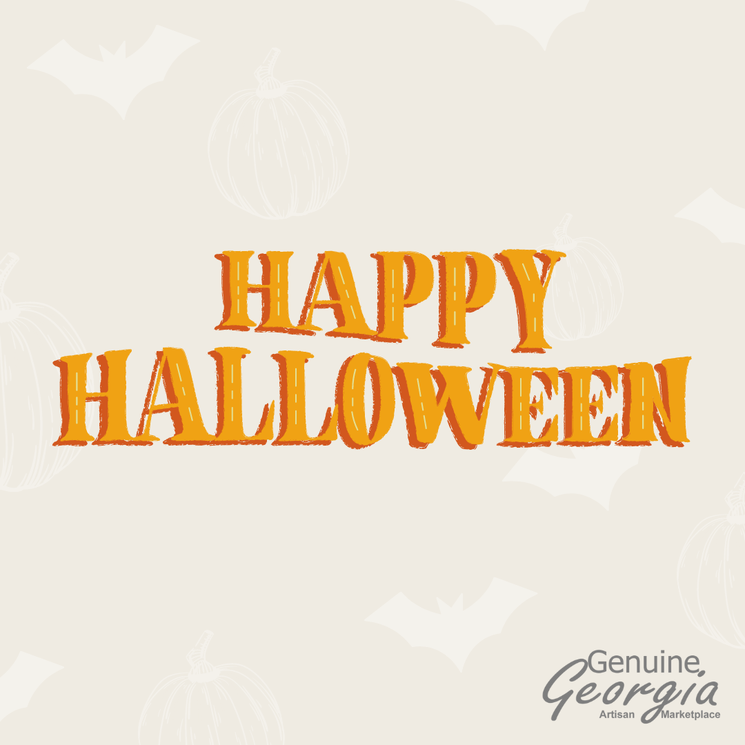 Happy Halloween to all 🎃 We hope your day is magical ✨ #GenuineGeorgia #Georgia #Greensboro #LakeOconee #Art #Artist #LocalArt #GeorgiaArt #ArtisanMarketplace