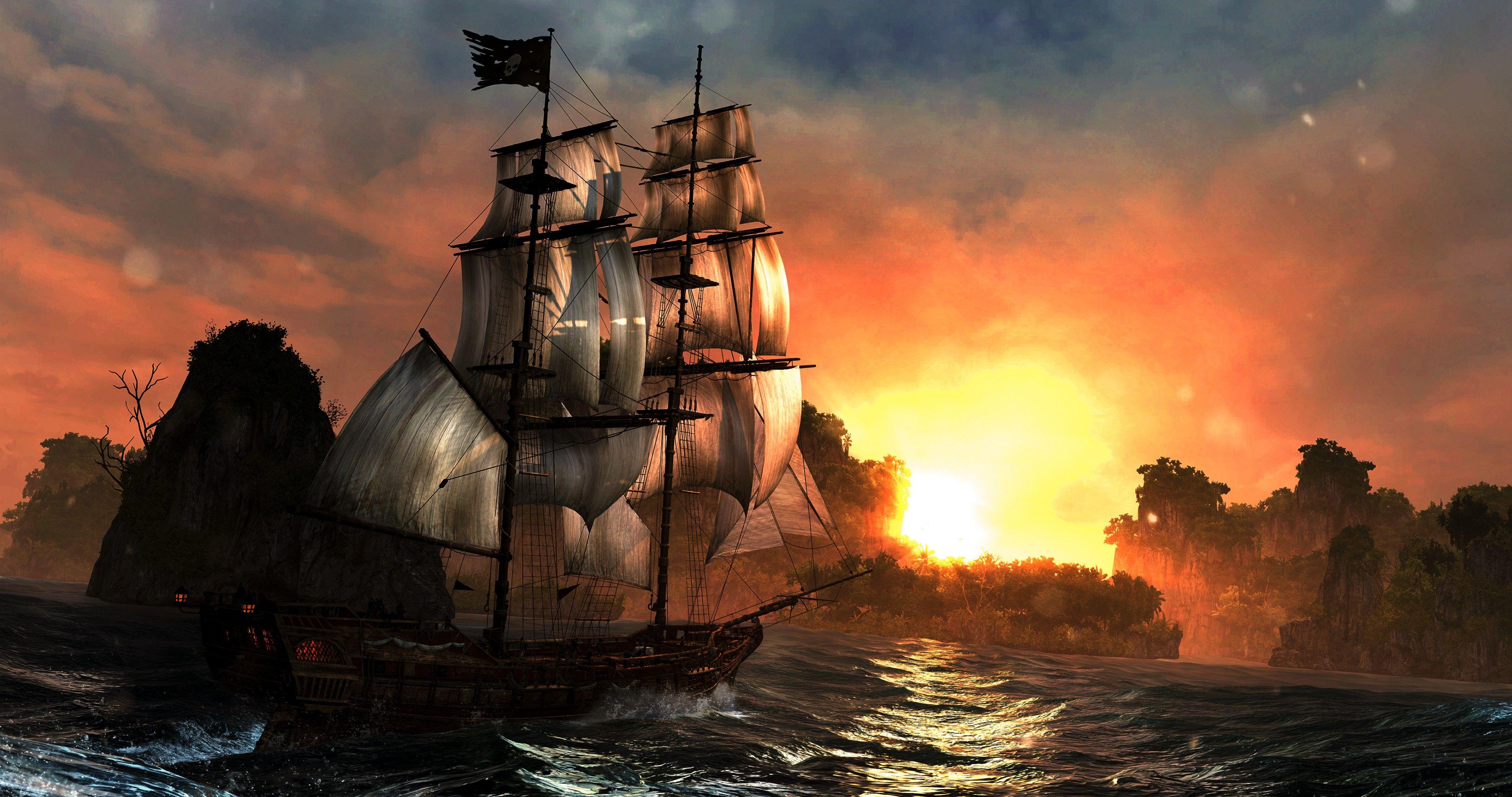 Fantasy ship cliff jolly roger pirate ship rock lightning wallpaper - Fantasy Ship Cliff Jolly Roger Pirate Ship Rock Lightning Wallpaper 58