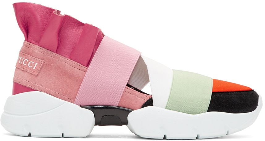 b123ed474d54 Emilio Pucci - Pink   Orange Colorblock Slip-On Sneakers   Wish List ...