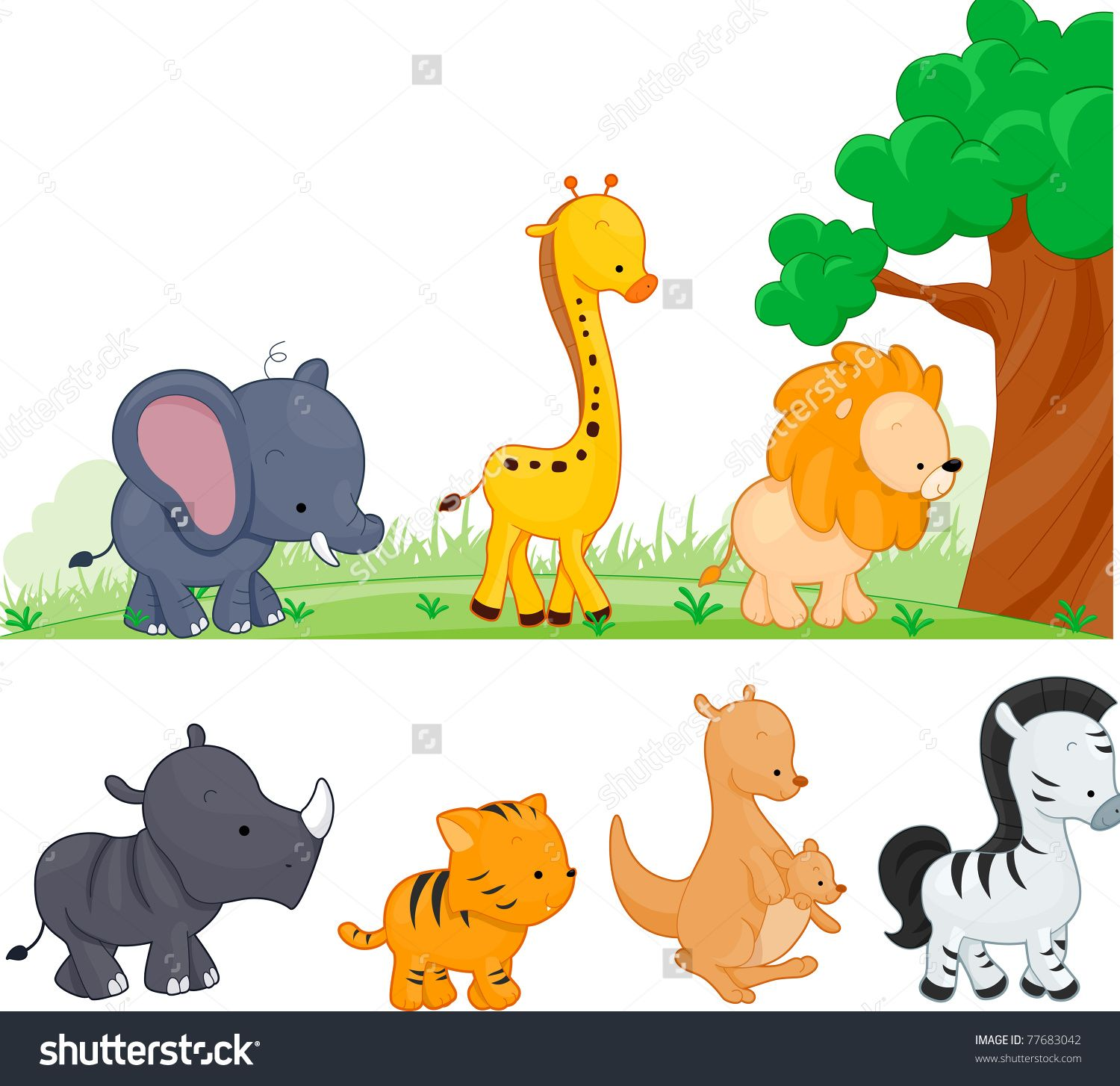 Illustration Of Animals Walking By Free Vector Illustration Illustration Animal Illustration