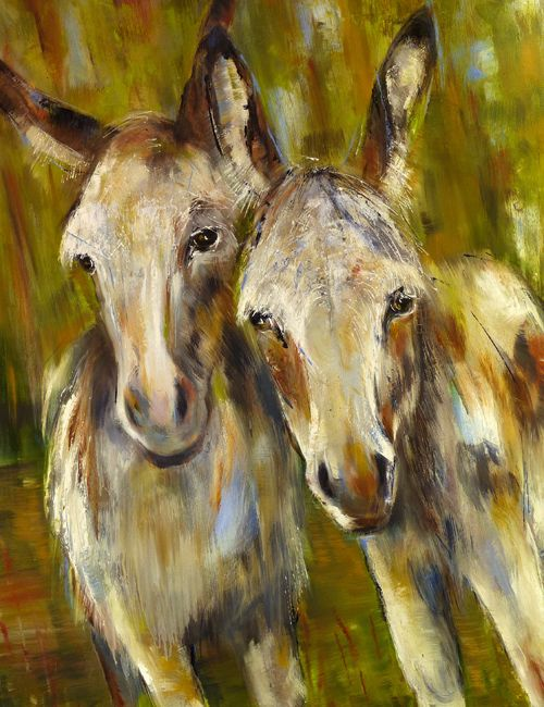 I also love painting animals, and I think these guys here are particularly appealing subjects!