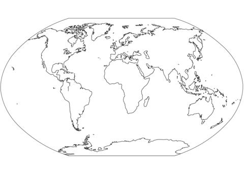 afbeeldingsresultaat voor wereldkaart kleurplaat world