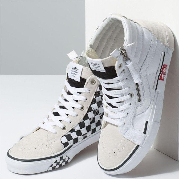 613c13de858 Vans Sk8-Hi Reissue Deconstructed White Black