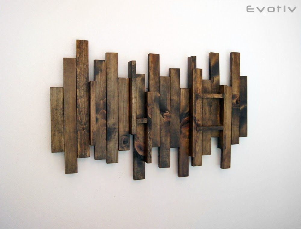 Gorgeous Wall Art Made From Reclaimed Wood (pine) !