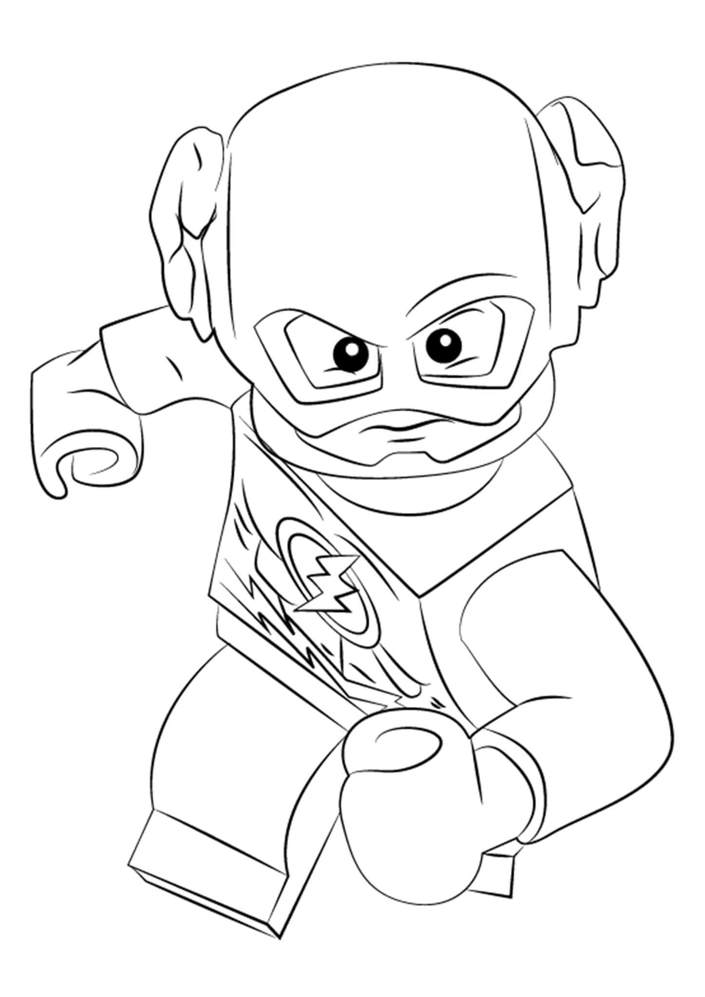 Free Easy To Print Flash Coloring Pages Lego Coloring Pages Lego Coloring Superhero Coloring Pages