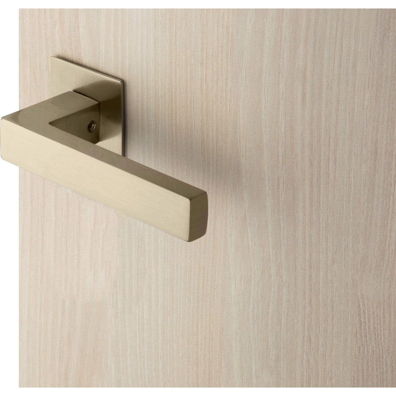 2 Poignees Sur Rosace Canto Zamak Nickele Mat Sans Trou Door Handles Handle Home Decor