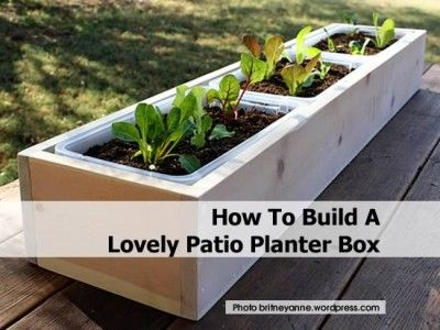 Great This Is A Beautiful Project Idea That Is Quite Simple To Implement, Even  With Basic Woodworking Skills. To Make Your Own Lovely Patio Planter Box,  Just Vis