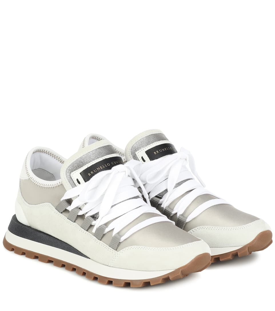 Suedetrimmed sneakers in 2020 Sneakers, Suede, Brunello