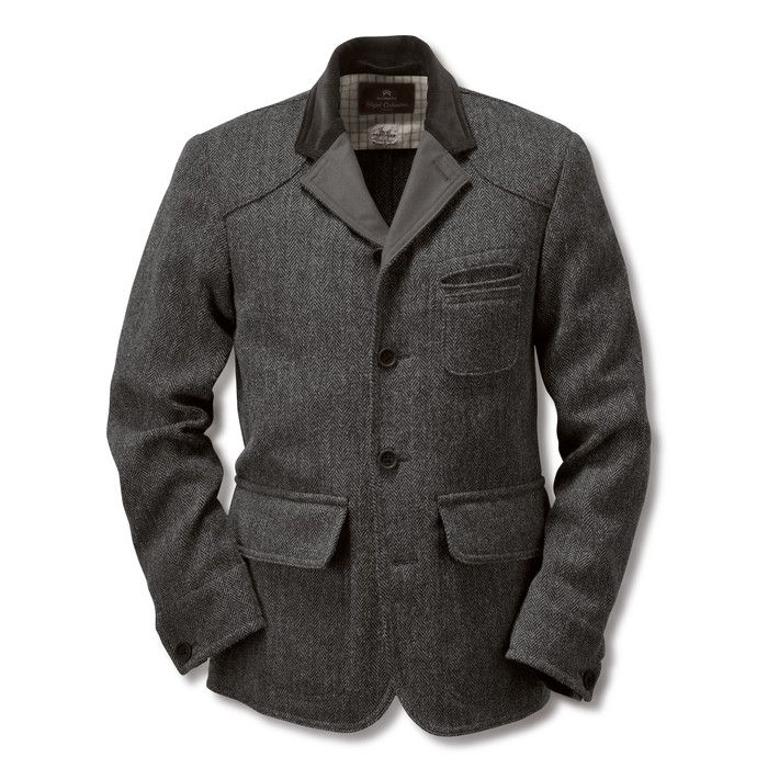Nigel Cabourn Herrenjackett Raw Tweed Anthrazit   Mäntel und Jacken ... 3d220bf01b